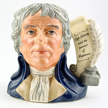 Thomas Jefferson D6943 - Large - Royal Doulton Character Jug