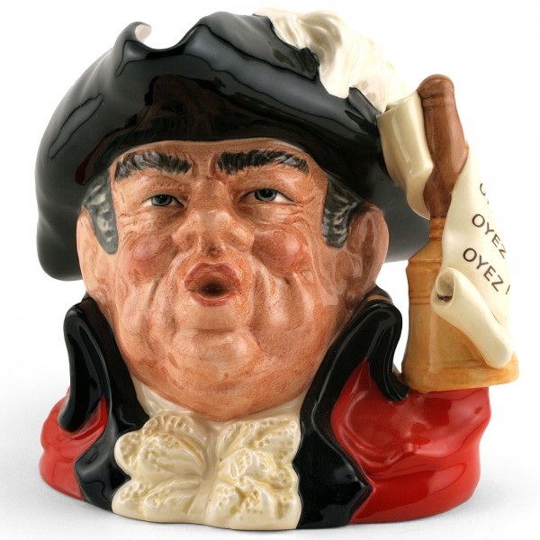 Town Crier Scroll Handle D6895 - Large - Royal Doulton Character Jug
