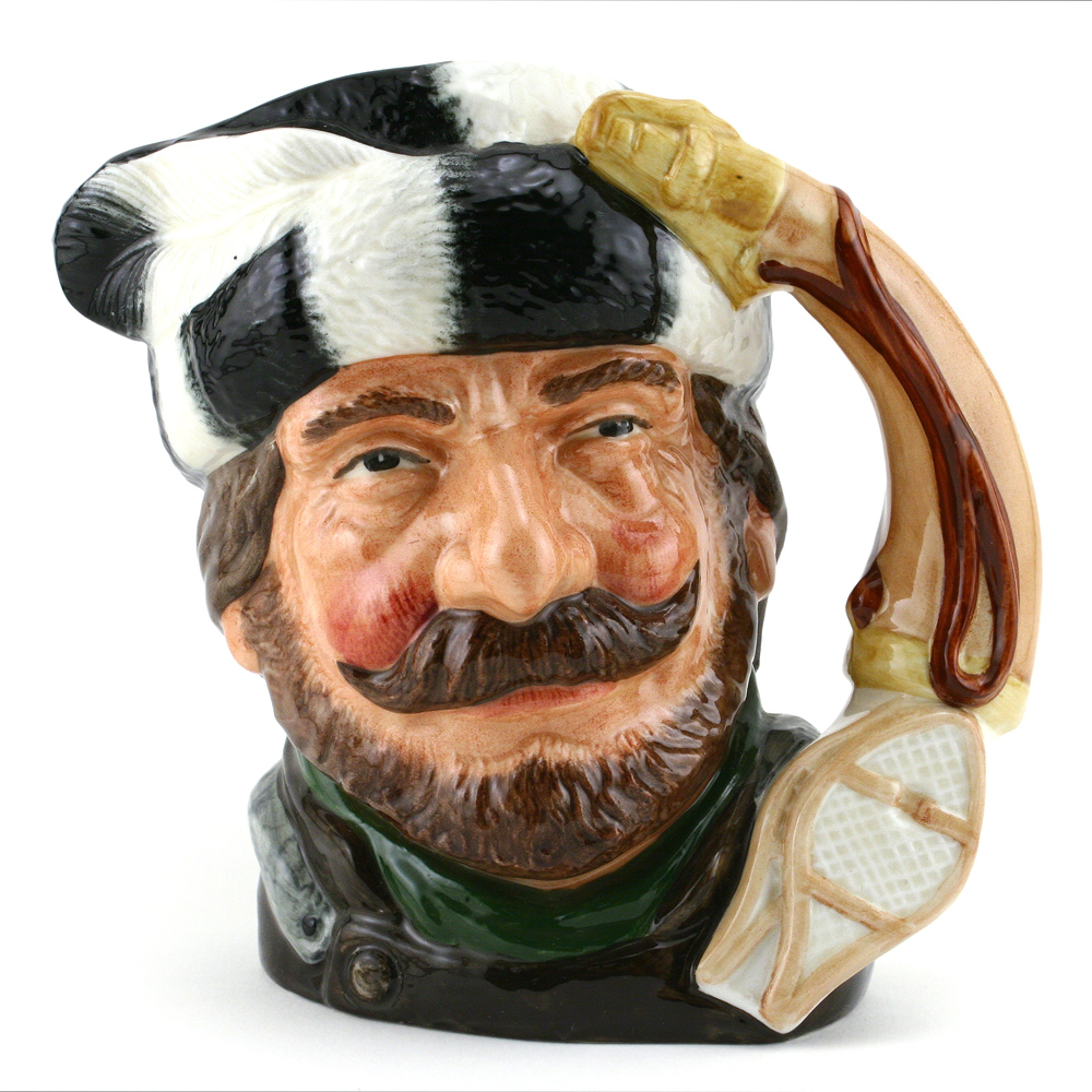Trapper D6609 (Earthenware) - Large - Royal Doulton Character Jug