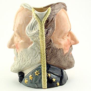 Ulysses Grant / Robert E. Lee D6698 - Large - Royal Doulton Character Jug