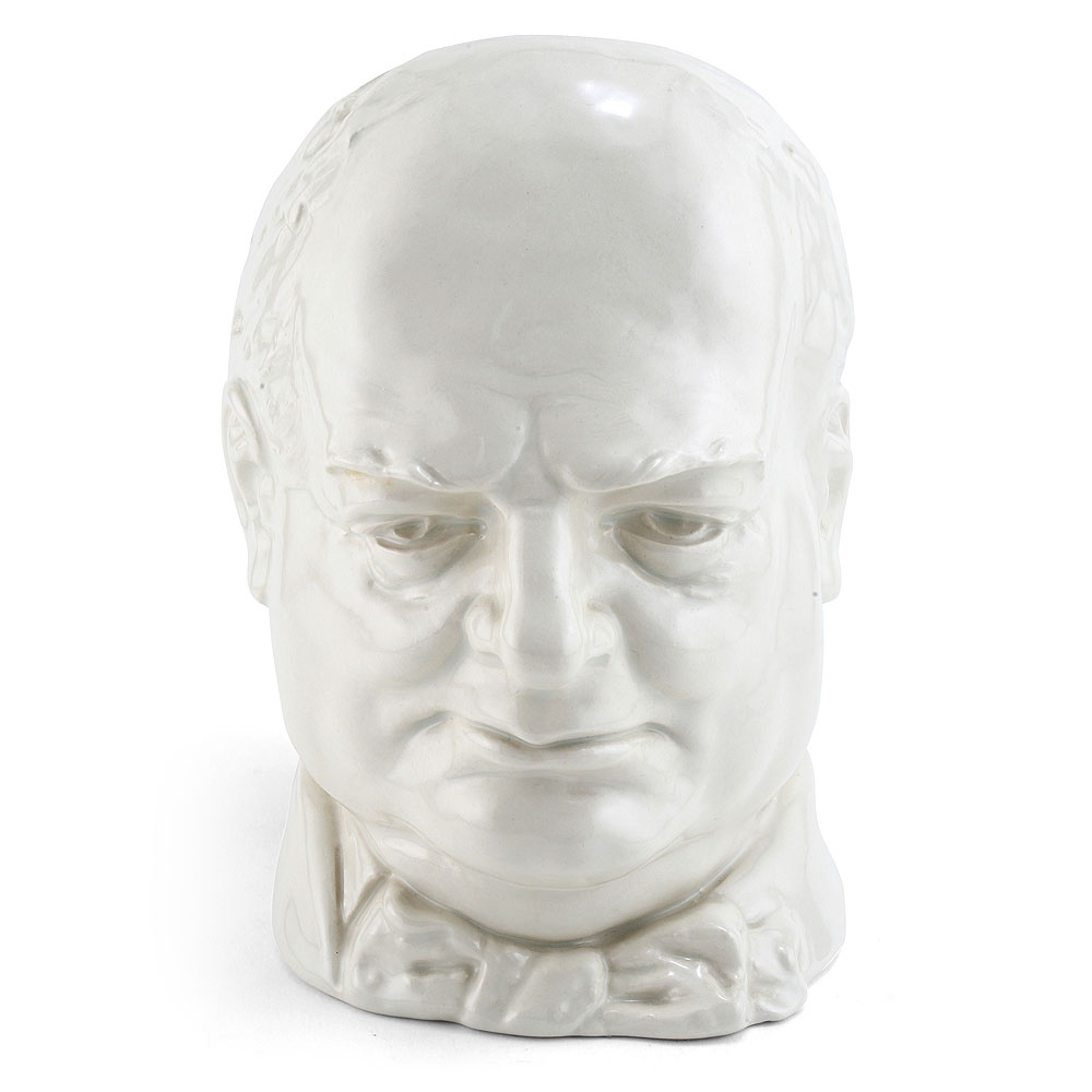 Winston Churchill (White with black handles) D6170 - Large - Royal Doulton Character Jug