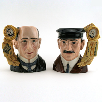 Wright Brothers Orville and Wilbur D7178 and D7179 - Large - Royal Doulton Character Jug