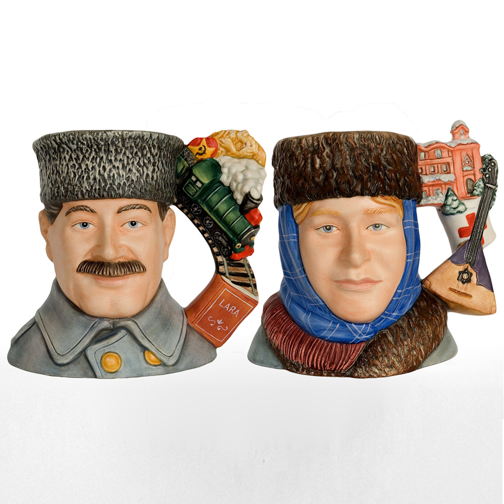 Dr. Zhivago and Lara D7286 & D7287 - Large - Royal Doulton Character Jug