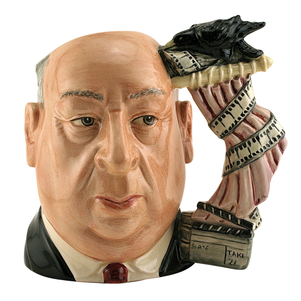 Alfred Hitchcock Pink Shower Curtain D6987 - Large - Royal Doulton Character Jug