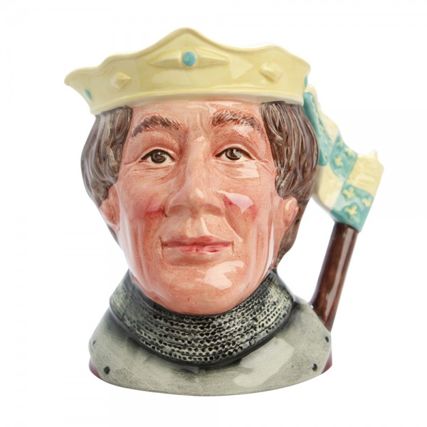 Henry V - (Color Variation, blue and yellow crown) - D6671 Large - Large - Royal Doulton Character Jug