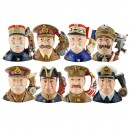 WWI Military Leaders Set - Royal Doulton Large Character Jugs