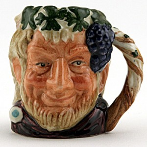 Bacchus D6521 (Bone China) - Mini - Royal Doulton Character Jug