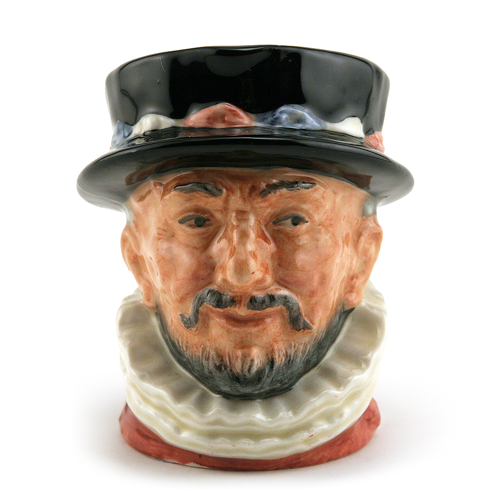 Beefeater ER D6251 (Bone China) - Mini - Royal Doulton Character Jug