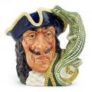 Capt Hook Old D6605 - Mini - Royal Doulton Character Jug