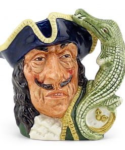 Capt Hook Old D6605 - Mini - Royal Doulton Character Jug