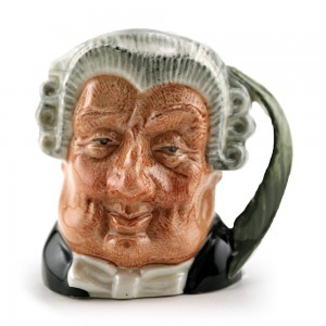 Lawyer D6524 (Bone China) - Mini - Royal Doulton Character Jug
