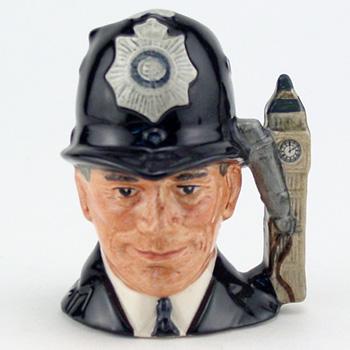 London Bobby D6763 (Embossed) - Mini - Royal Doulton Character Jug