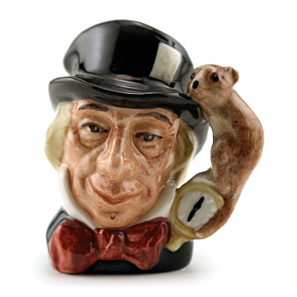 Mad Hatter D6606 (Bone China) - Mini - Royal Doulton Character Jug