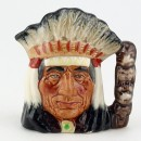 North American Indian D6665 - Mini - Royal Doulton Character Jug