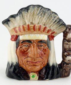 North American Indian D6665 - Mini - Royal Doulton Character Jug
