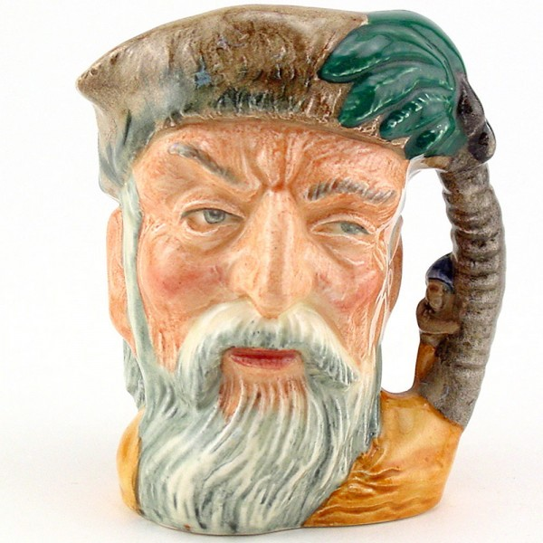 Robinson Crusoe D6546 (without footprint) - Mini - Royal Doulton Character Jug