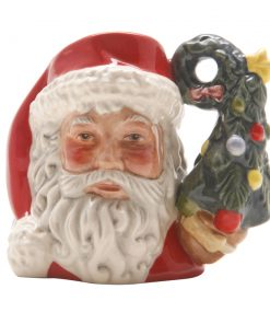 Santa Claus Wreath Tree D7244 - Mini - Royal Doulton Character Jug