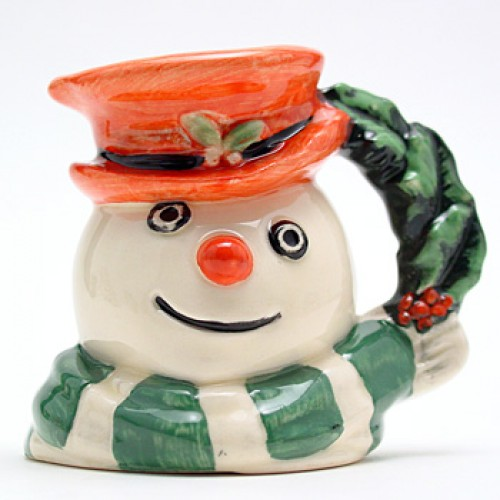 Snowman Holly and Berries D7062 - Mini - Royal Doulton Character Jug