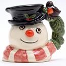Snowman D7159 (Robin and Wreath Handle) - Mini - Royal Doulton Character Jug