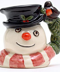 Snowman D7159 (Robin and Wreath Handle) - Mini - Royal Doulton Character Jug