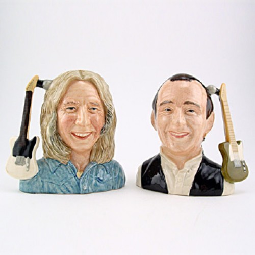 Francis Rossi and Rick Parfitt of Status Quo D6961 & D6962 - Odd Size - Royal Doulton Character Jug