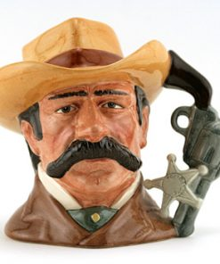 Wyatt Earp D6711 - Odd Size - Royal Doulton Character Jug