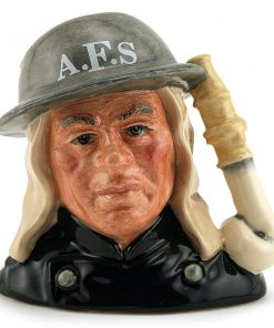 Auxiliary Fireman D6887 - Small - Royal Doulton Character Jug