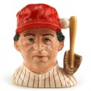 Baseball Player Philadelphia D6957 - Small - Royal Doulton Character Jug