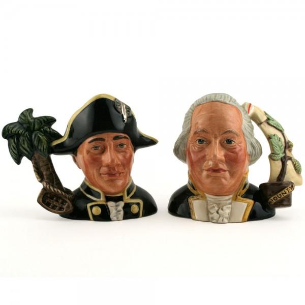 Capt. Bligh and Fletcher Christian D7074 & D7075 - Small - Royal Doulton Character Jug