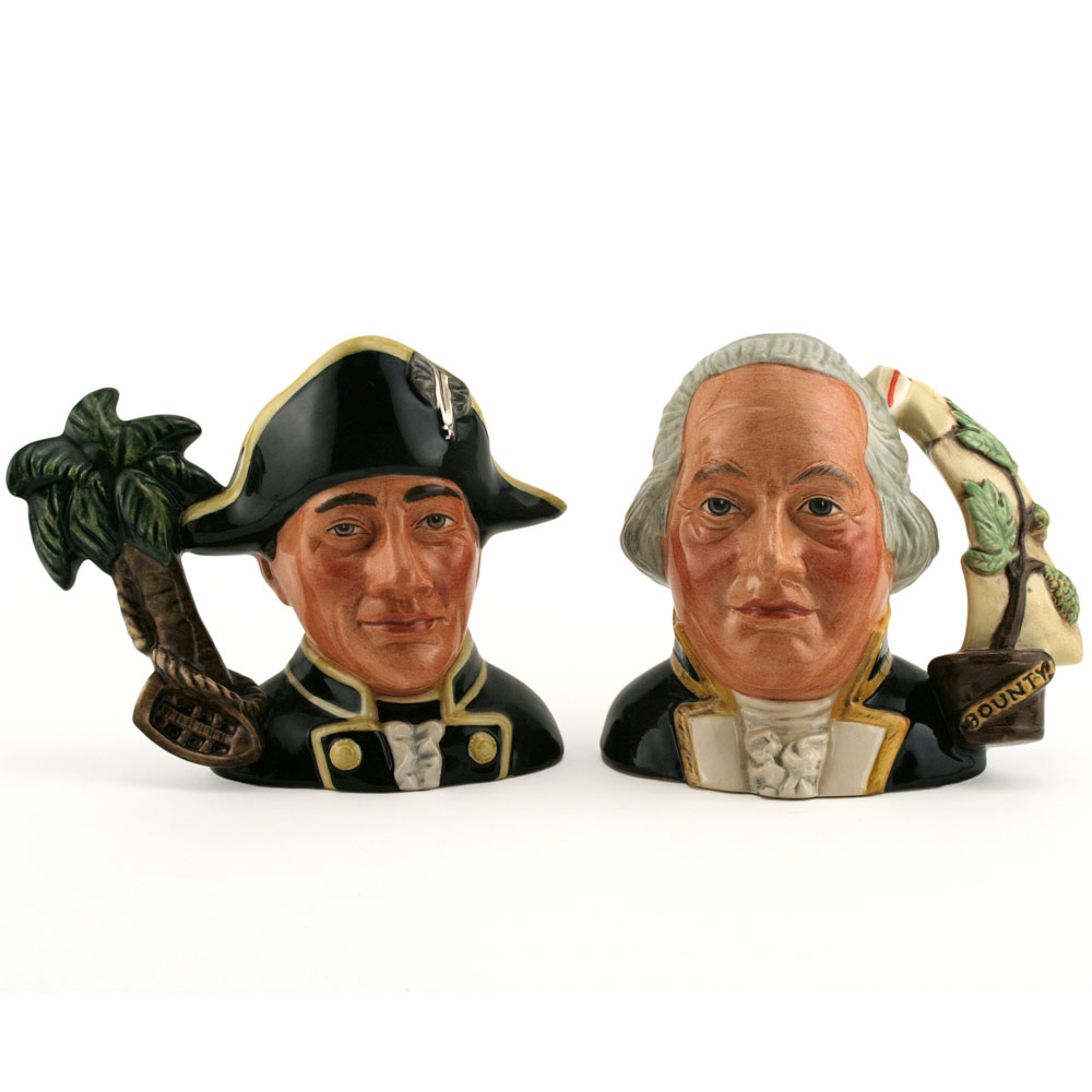 Capt. Bligh and Fletcher Christian D7074 & D7075 - Small - Royal Doulton Character Jug