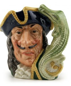 Captain Hook Old D6601 (Bone China) - Small - Royal Doulton Character Jug