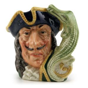 Captain Hook Old D6601 (Bone China) - Small - Royal Doulton Character Jug