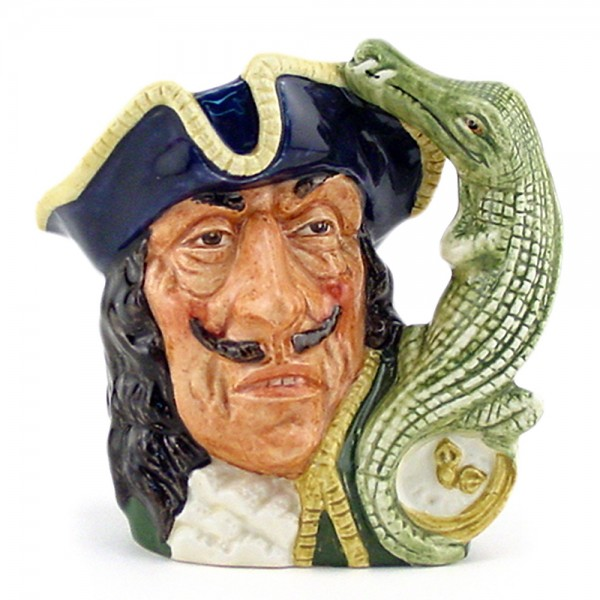 Capt Hook Old D6601 - Small - Royal Doulton Character Jug