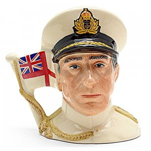 Earl Mountbatten of Burma D6851 - Small - Royal Doulton Character Jug