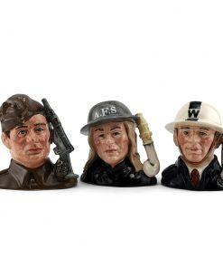 Heroes of the Blitz Set - Small - Royal Doulton Character Jug