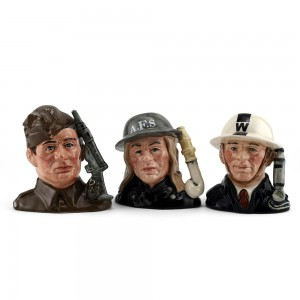 Heroes of the Blitz Set - Small - Royal Doulton Character Jug
