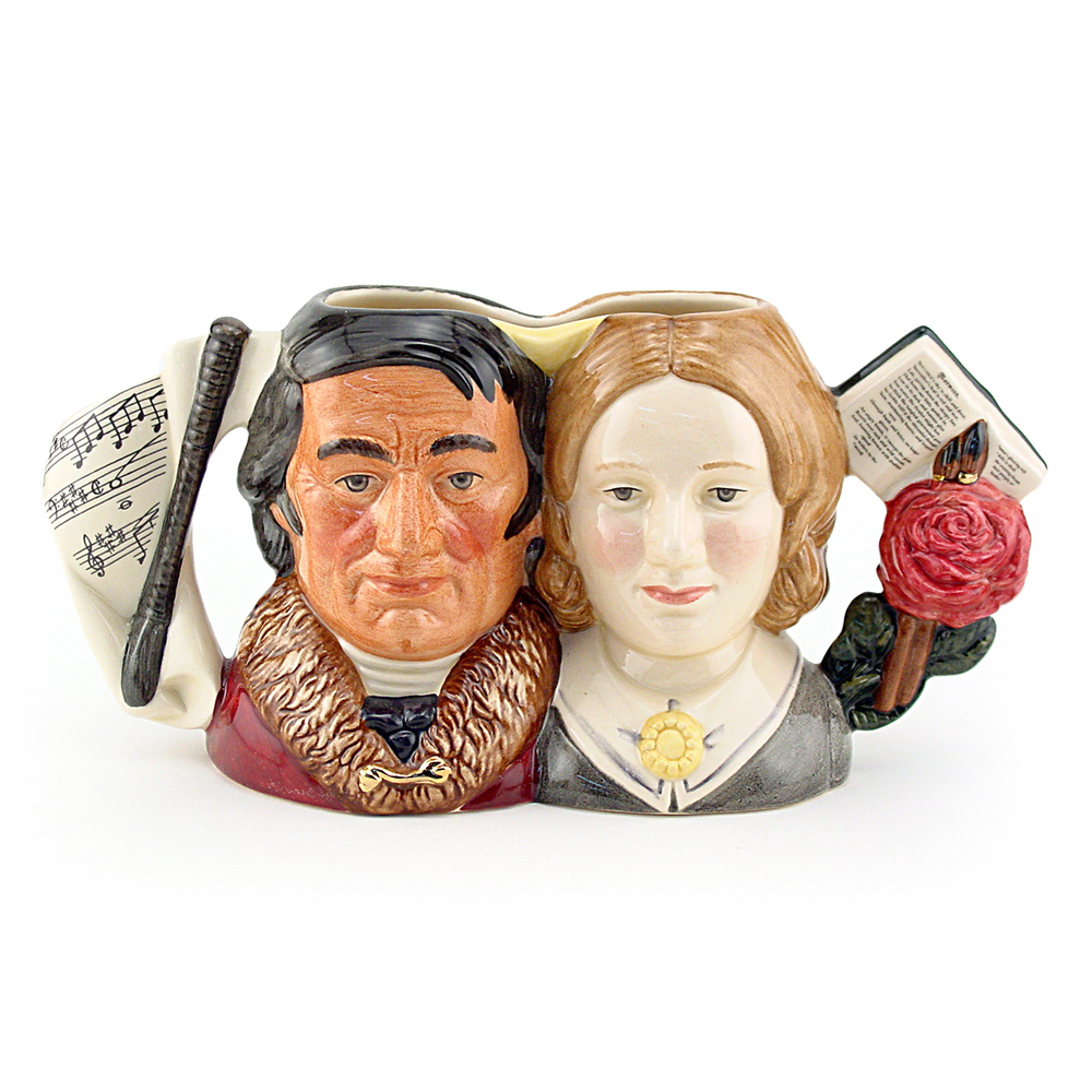 Jane Eyre and Mr. Rochester D7115 - Small - Royal Doulton Character Jug