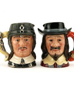 King Charles Oliver Cromwell - Small - Royal Doulton Character Jug