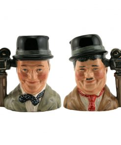Laurel and Hardy Pair D7008 & D7009 - Small - Royal Doulton Character Jug