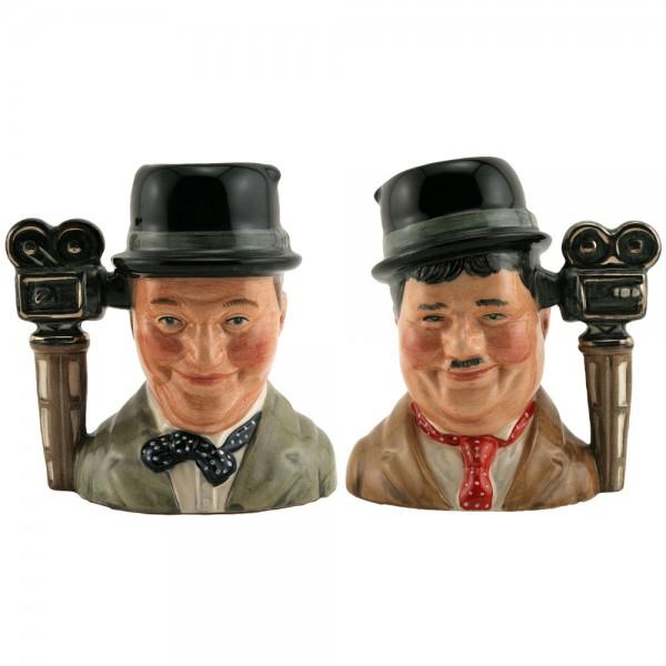 Laurel and Hardy Pair D7008 & D7009 - Small - Royal Doulton Character Jug