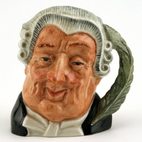 Lawyer D6504 (Bone China) - Small - Royal Doulton Character Jug