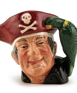 Long John Silver D7138 (Treasure Chest Backstamp - Colorway) - Small - Royal Doulton Character Jug