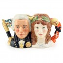 Lord Nelson and Lady Hamilton D7092 - Small - Royal Doulton Character Jug