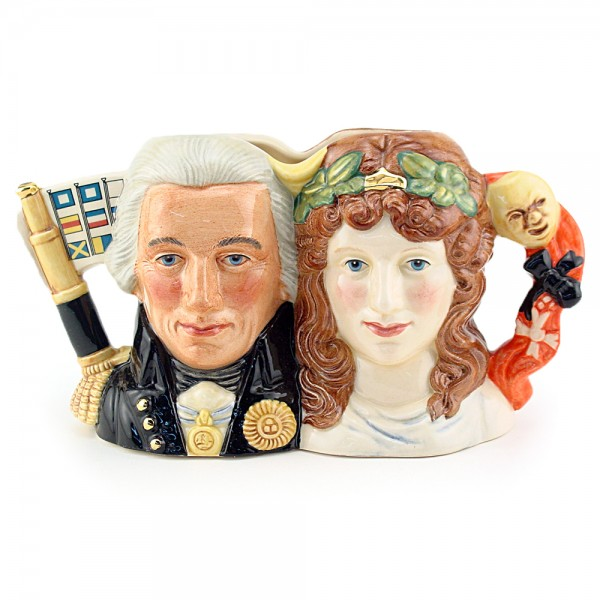 Lord Nelson and Lady Hamilton D7092 - Small - Royal Doulton Character Jug