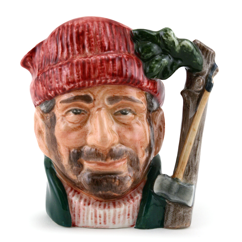 Lumberjack D6613 (Bone China) - Small - Royal Doulton Character Jug