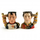Napoleon and Duke of Wellington Pair D7001 & D7002 - Small - Royal Doulton Character Jug