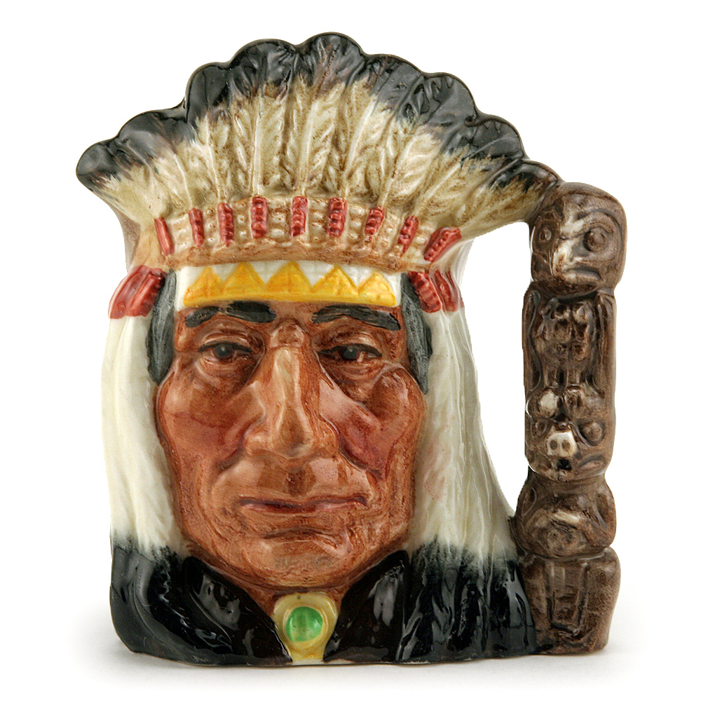 North American Indian D6614 (Bone China) - Small - Royal Doulton Character Jug