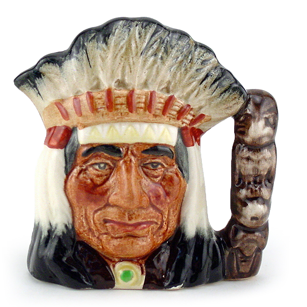 North American Indian D6614 - Small - Royal Doulton Character Jug