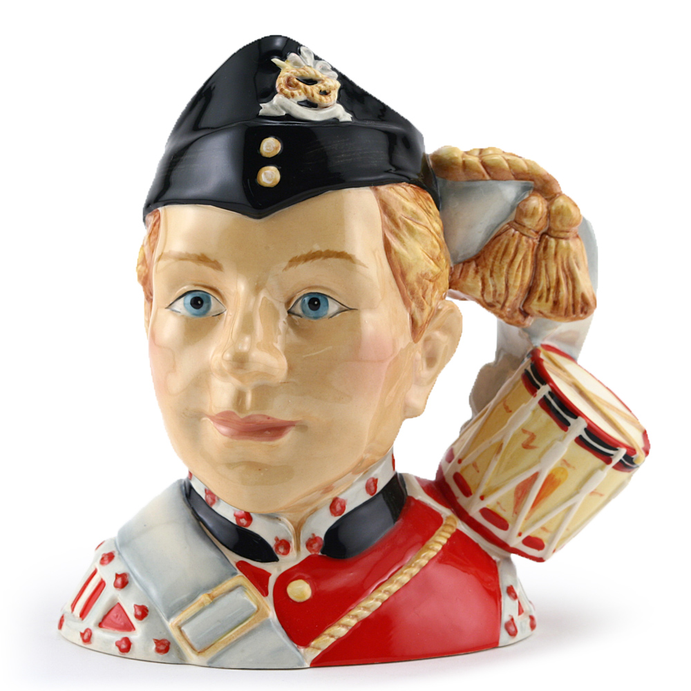 North Staffordshire Drummer Boy D7211 - Small - Royal Doulton Character Jug