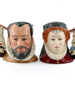 Queen Elizabeth I and King Philip of Spain Pair D6821 & D6822 - Small - Royal Doulton Character Jug